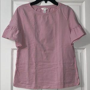 Bell sleeve pink top